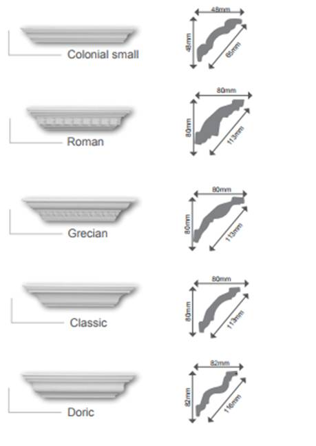 Decorative Cornices with info sheet installed or diy Pretoria wide